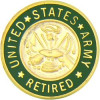 14376 - United States Army Retired Insignia Pin