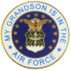 14470 - My Grandson Is In The Air Force Emblem Pin