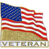 14587 - United States Flag Veteran Pin