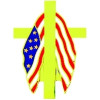 14630 - Patriotic Memorial Cross Pin