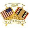 14633 - United States & Iraq Crossed Flags Iraq Veteran Pin