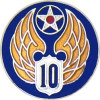 14695 - 10th Air Force Pin
