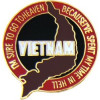 14764 - Vietnam I'm Surre To Go To Heaven Pin