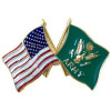 14809 - United States & Army Crossed Flags Pin