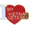 14837 - I Love My Vietnam Veteran Pin