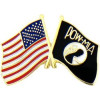 15122 - POW/MIA Symbol and United States Flag Pin