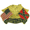 15663 - United States & Confederate Crossed Flags American By Birth Pin