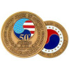 22344 - Korea 50th Anniversary Challenge Coin