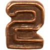 2522.2 - Bronze Numeral - 2 for Ribbon Bars, Mini Medals, and Full Size Medals