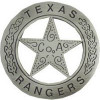 40070ANSI - Texas Ranger Replica Badge