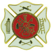 5249WH - Fire Department Insignia Pin
