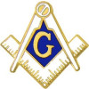6040 - Masonic Symbol Cutout Pin