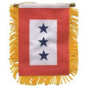 87074 - 3 Blue Star Mini Banner