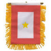 87076 - 1 Gold Star Mini Banner