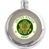 8773 - US Army Round 5oz. Stainless Steel Flask