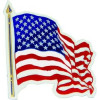 98016 - Wavy US Flag Magnet