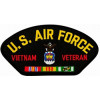 FLB1446 - US Air Force Vietnam Veteran with Ribbons Emblem Black Patch