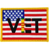 FL1032 - US Flag Vietnam Veteran Small Patch