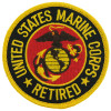 FL1092 - US Marine Corps Retired Small Patch
