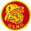 FL1215 - US Marine Corp Devil Dog Small Patch