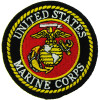FL20 - United States Marine Corps (Round) Small Patch