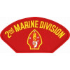 FLB1361 - 2nd Marine Division Insignia Red Patch