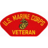 FLB1375 - US Marine Corps Veteran Insignia Red Patch