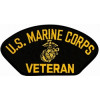 FLB1378 - US Marine Corps Veteran Insignia Black Patch