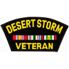 FLB1380 - Desert Storn Veteran Black Patch