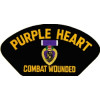 FLB1393 - Purple Heart Combat Wounded Black Patch