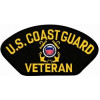 FLB1394 - US Coast Guard Veteran Insignia Black Patch