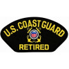 FLB1431 - US Coast Guard Retired Insignia Black Patch