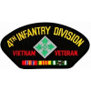 FLB1449 - 4th Infantry Division Vietnam Veteran with Ribbons Black Patch