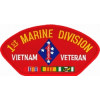 FLB1457 - 1st Marine Division Vietnam Veteran with Ribbons Red Patch