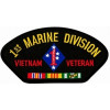 FLB1466 - 1st Marine Division Vietnam Veteran with Ribbons Black Patch