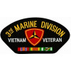 FLB1467 - 3rd Marine Division Vietnam Veteran with Ribbons Black Patch
