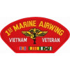 FLB1481 - 1st Marine Airwing Vietnam Veteran with Ribbons Red Patch