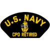 FLB1483 - US Navy E-7 CPO Retired Black Patch