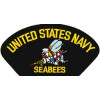 FLB1487 - US Navy Seabees Black Patch