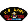 FLB1498 - United States Army Korean Veteran Insignia with Ribbon Black Patch