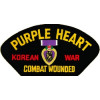 FLB1503 - Purple Heart Korean War Combat Wounded Black Patch
