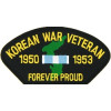 FLB1507 - Korean War Veteran Forever Proud Black Patch