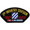 FLB1524 - Korea 3rd Infantry Veteran with Ribbon Black Patch