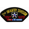FLB1540 - Korea 2nd Infantry Division Veteran Black Patch