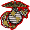 FLB1547 - US Marine Corps Eagle Globe and Anchor Colored Patch