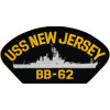 FLB1623 - USS New Jersey BB-62 Black Patch