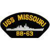 FLB1624 - USS Missouri BB-63 Black Patch