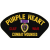 FLB1644 - Purple Heart Gulf War Combat Wounded Black Patch