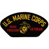 FLB1648 - US Marine Corps Iraqi Freedom Veteran Insignia Black Patch