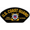 FLB1650 - US Coast Guard Iraqi Freedom Veteran with Ribbons Black Patch